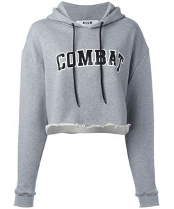 MSGM | Cropped Combat Hoodie Womens Size 40 Cotton/Viscose