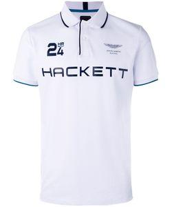 Hackett | Logo Print Polo Shirt Mens Size Small Cotton/Spandex/Elastane