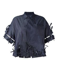 Facetasm | Denim Bow Shirt Size 2 Cotton