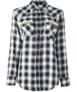 Forte Couture | Embellished Pocket Shirt Womens Size 44 Viscose