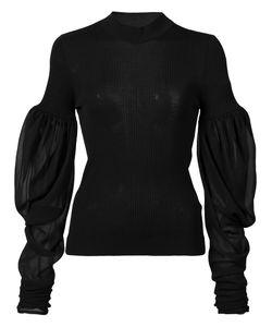 Vera Wang | Puff Sleeve Jumper Womens Size Medium Wool/Silk