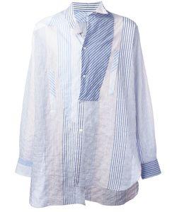 Loewe   Deconstructed Striped Shirt Mens Size Medium Cotton/Polyurethane