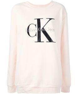 Calvin Klein Jeans | Logo Print Sweatshirt Womens Size Large Cotton