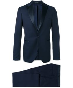 Tagliatore   Peaked Lapels Two-Piece Suit Mens Size 46 Virgin Wool/Cotton/Cupro