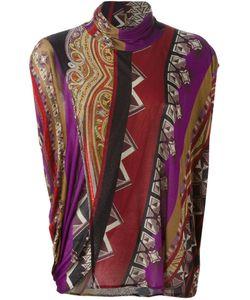 Etro | Printed Turtle Neck Sweater Womens Size 40 Viscose/Spandex/Elastane