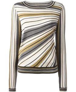 Diane von Furstenberg | Striped Knitted Top Womens Size Small Viscose/Cotton/Silk/Polyester