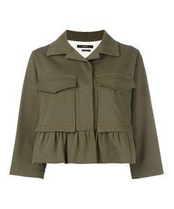 Odeeh | Boxy Cropped Sleeve Jacket Womens Size 36 Cotton/Spandex/Elastane/Lyocell