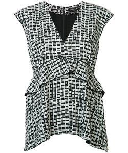 Proenza Schouler | Frill-Hem Blouse Womens Size 2 Silk