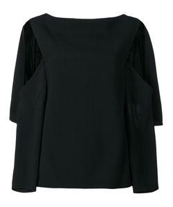 Chalayan | Open Sleeve Blouse Womens Size 42 Viscose/Acrylic