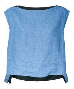 Demoo Parkchoonmoo | Colour Block Blouse Womens Size 36 Linen/Flax