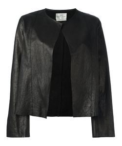 Forte Forte | Collarless Open Leather Jacket Womens Size Ii Leather