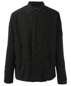 Transit | Crumpled Detail Shirt Jacket Mens Size Xxl Linen/Flax