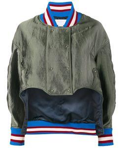 Esteban Cortazar | Asymmetric Bomber Jacket Womens Size 36 Polyamide/Cotton