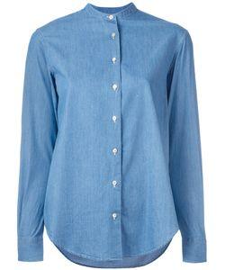 Xacus | Mandarin Collar Denim Shirt Womens Size 46 Cotton