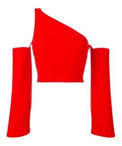 Mugler | Single Strap Cut-Off Blouse Womens Size 36 Spandex/Elastane/Viscose/Acetate/Polyester