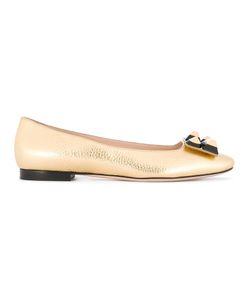 Fendi | Stud Ballerinas Womens Size 40 Calf Leather/Leather/Metal Other