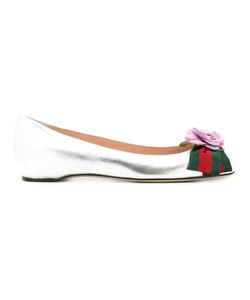 Gucci | Web Ballerinas Womens Size 39 Leather