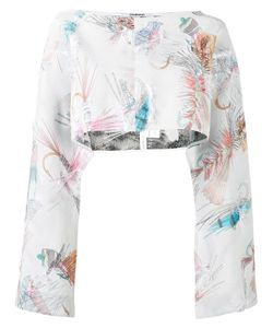 Chalayan | Overlay Top Womens Polyester/Acetate/Viscose