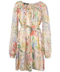 Rochas | Print Longsleeved Dress Womens Size 40 Silk