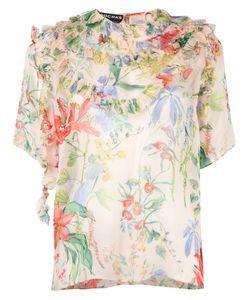 Rochas | Print Blouse Womens Size 44 Silk