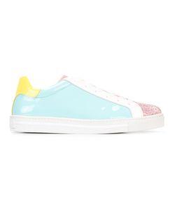 Rene Caovilla | René Caovilla Block Colour Lace-Up Sneakers Womens Size 40 Patent