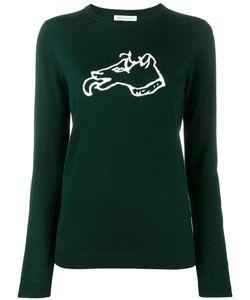 Bella Freud   Dog Intarsia Sweater Womens Size Small Wool
