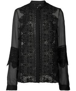 Sally Lapointe | Sheer Shirt Womens Size 4 Silk/Cotton