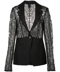 Vera Wang | Lace Blazer Womens Size 10 Silk/Nylon/Cotton/Wool