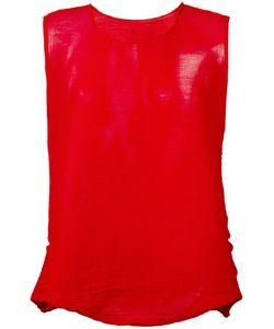 Issey Miyake Cauliflower | Sleeveless Top Womens Polyester
