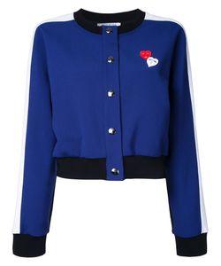 Vivetta | Hearts Bomber Jacket Womens Size 40 Polyester/Viscose/Cotton/Spandex/Elastane