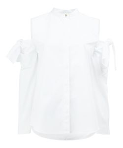 Maison Rabih Kayrouz   Cut-Out Sleeve Shirt Womens Size 36 Cotton