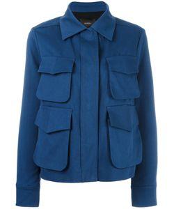 Odeeh | Patch Pocket Jacket Womens Size 40 Cotton/Lyocell/Viscose/Polyester
