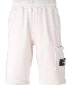 Stone Island | Elasticated Waistband Sweat Shorts Mens Size Medium Cotton