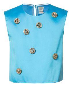 Maison Rabih Kayrouz   Embellished Cropped Top Womens Size 38 Polyester/Silk