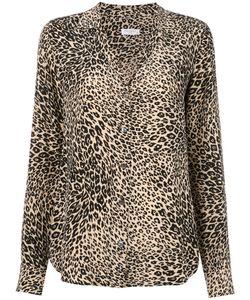 Equipment | Leopard Print Shirt Womens Size Medium Silk