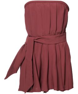 C/Meo | Strapless Playsuit Womens Size Large Viscose/Polyester