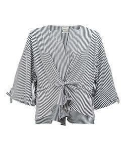 Maison Rabih Kayrouz   Striped Wide Sleeve Blouse Womens Size 38