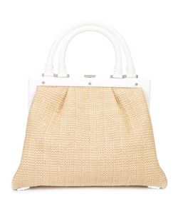 Perrin Paris | Woven Tote Womens Straw/Leather