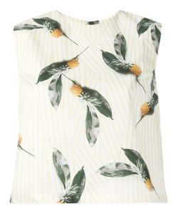 Cacharel | Pineapple Print Top Womens Size 34 Cotton