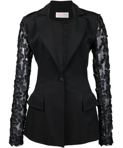 Christian Siriano | Fitted Jacket Womens Size 4 Viscose Crepe