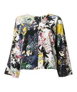 Zero + Maria Cornejo | Abstract Print V-Neck T-Shirt Womens Size 6