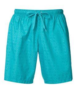 Moschino   Logo Print Swim Shorts Mens Size Large Polyester