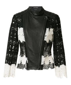 Yigal Azrouel | Mod Lace Leather Jacket Womens Size 6