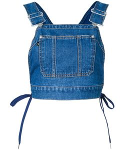 G.V.G.V. | Denim Dungaree Top Womens Size 36 Cotton