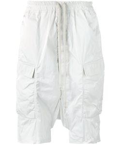 Rick Owens   Drop-Crotch Cargo Shorts Mens Size 48 Polyester