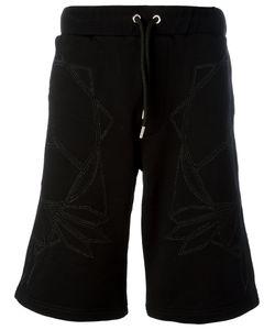 Les Hommes | Geometric Print Drawstring Shorts Mens Size Xl Cotton