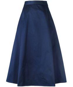 Barena   Pleat Detail Midi Skirt Womens Size 44 Cotton