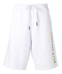 Iceberg | Jersey Lettering Logo Shorts Mens Size Large Cotton/Polyester
