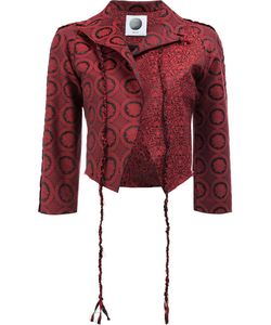 Aganovich | Allover Print Cropped Jacket Womens Size 38 Silk/Cotton