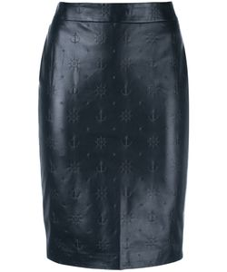 Roseanna   Boat Detail Skirt Womens Size 36 Lamb Skin/Viscose